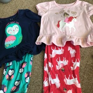 Toddler girl pj set 2t